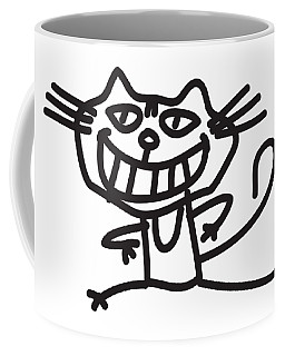 Happy Smiling Cat Coffee Mug