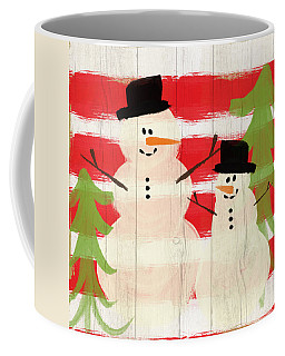 Happy Snowmen- Art By Linda Woods Coffee Mug