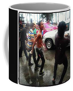 Coffee Mug featuring the photograph Happy Songkran. The Water Splashing by Mr Photojimsf