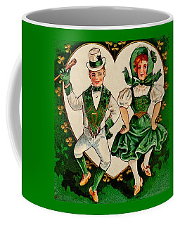 Coffee Mug featuring the painting Happy St Patricks Day Irish Jig by Peter Gumaer Ogden