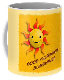 Coffee Mug featuring the digital art Happy Sun Face by John Wills