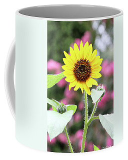 Coffee Mug featuring the photograph Happy Sunflower by Trina Ansel