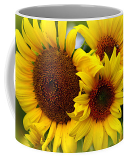 Coffee Mug featuring the photograph Happy Sunflowers by Kay Novy