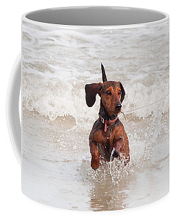 Happy Surf Dog Coffee Mug