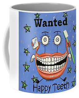 Coffee Mug featuring the painting Happy Teeth by Anthony Falbo