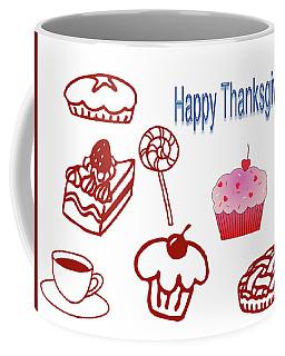 Happy Thanksgiving Coffee Mug by Tina M Wenger