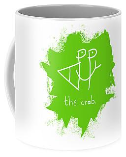 Happy The Crab - Green Coffee Mug