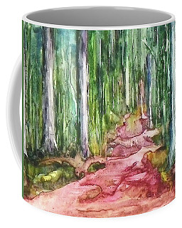 Coffee Mug featuring the painting Happy Trail by Anna Ruzsan