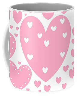 'just Hearts' Coffee Mug by Linda Velasquez