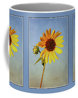 Happy Yellow Sunflower Coffee Mug by Krista-