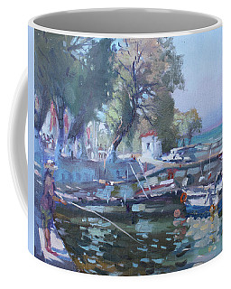 Harbor At Dilesi Greece Coffee Mug
