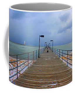 Coffee Mug featuring the photograph Harbor Beach Lighthouse by Michael Rucker
