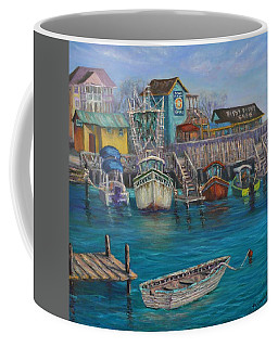 Harbor Boats Coastal Painting Of Southport North Carolina Coffee Mug