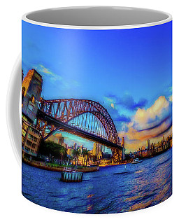 Coffee Mug featuring the photograph Harbor Bridge by Perry Webster