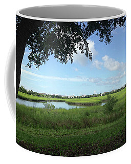 Harbor Island Blue Sky Coffee Mug by Phil Mancuso