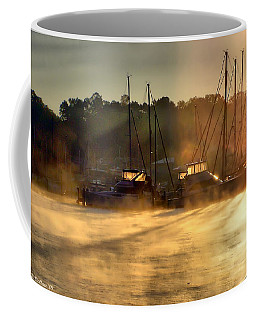 Coffee Mug featuring the photograph Harbor Mist by Brian Wallace