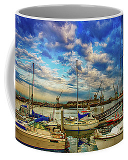 Harbor Scene Coffee Mug by Joseph Hollingsworth