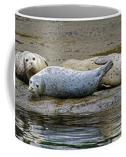 Harbor Seal Banana Pose Coffee Mug