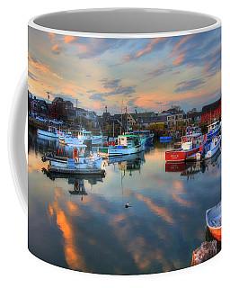 Harbor Sunset In Rockport Ma Coffee Mug