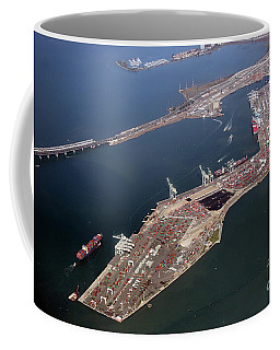 Harbor, Terminal, Dock, Port Of Oakland Coffee Mug