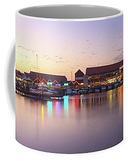 Harbour Lights, Hillarys Boat Harbour Coffee Mug by Dave Catley