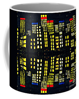 Harbour Lights Reflected 1 Coffee Mug by Leanne Seymour