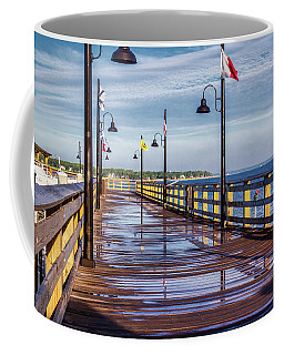 Coffee Mug featuring the photograph Harbour Town Pier by Randy Bayne
