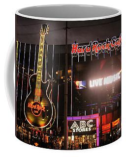 Hard Rock Cafe Las Vegas Strip At Night Coffee Mug by RicardMN Photography
