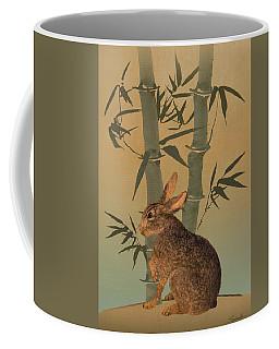 Hare Under Bamboo Tree Coffee Mug