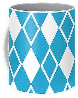 Coffee Mug featuring the digital art Harlequin Diamond Pattern - Choose Your Color by Mark E Tisdale