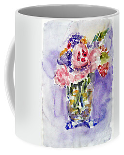 Harlequin Or Bright Side Of Life Coffee Mug by Jasna Dragun