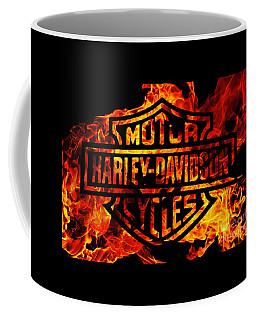 Harley Davidson Logo Flames Coffee Mug