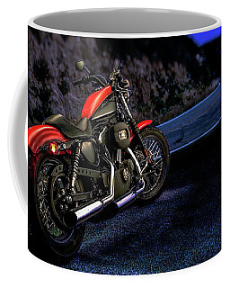 Coffee Mug featuring the photograph Harley Davidson Nightster by YoPedro
