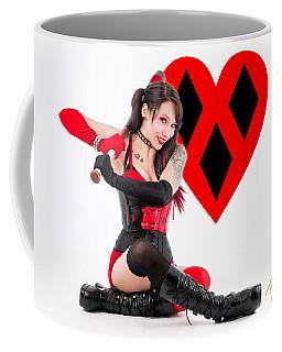 Harley Quinn Ready To Swing Coffee Mug by Rikk Flohr