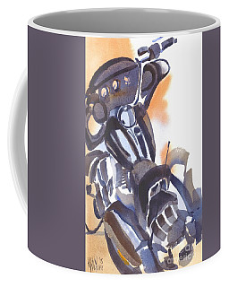 Coffee Mug featuring the painting Motorcycle Iv by Kip DeVore