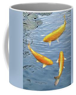Harmony - Golden Koi Coffee Mug by Gill Billington