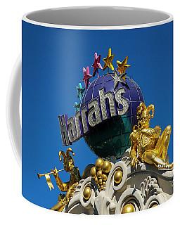 Harrah's Casino Sign On The Las Vegas Strip Coffee Mug
