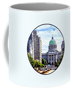 Harrisburg Pa - Capitol Building Seen From State Street Coffee Mug