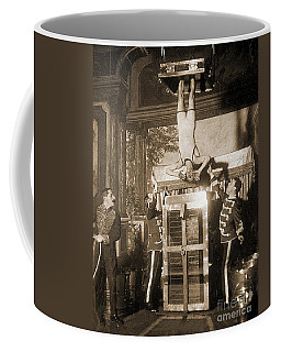 Harry Houdini Suspended Above A Tank Of Water  Coffee Mug