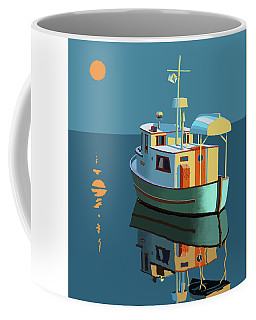 Coffee Mug featuring the painting Harvest Moon by Gary Giacomelli