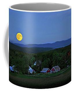 Harvest Moon Over Peacham Vermont Coffee Mug