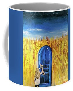 Coffee Mug featuring the painting Harvester by Jennifer Page