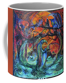 Coffee Mug featuring the painting Harvesters Of The Autumnal Swamp by Christophe Ennis
