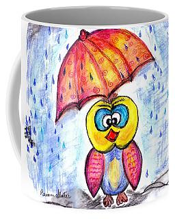 Coffee Mug featuring the drawing Has It Stopped Raining Yet?  by Ramona Matei