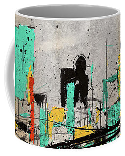 Coffee Mug featuring the painting Hashtag City by Carmen Guedez