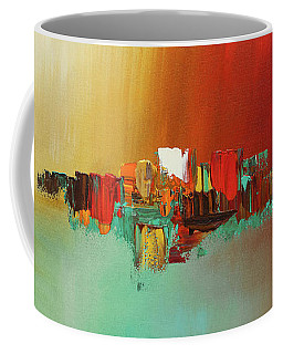 Coffee Mug featuring the painting Hashtag Happy - Abstract Art by Carmen Guedez