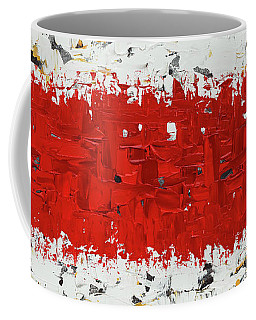 Coffee Mug featuring the painting Hashtag Red - Abstract Art by Carmen Guedez