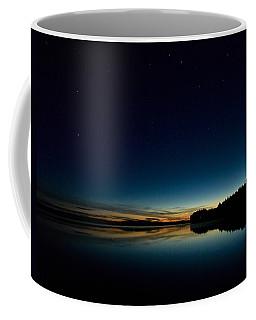 Coffee Mug featuring the photograph Haukkajarvi By Night With Ursa Major 1 by Jouko Lehto