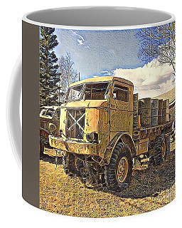 Hauling Oil Barrels On Old Canol Pipeline Project Coffee Mug