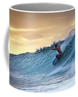 Hawaii Bodysurfing Sunset Polihali Beach Kauai  Coffee Mug